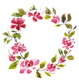 Frame with watercolor flowers vector image vector image