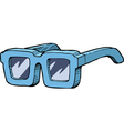 blue sunglasses vector image