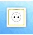 White Socket Icon vector image vector image