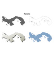 Panama outline map set vector image