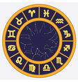 Horoscope circle vector image vector image