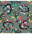 Abstract seamless pattern with retro shapes rings vector image
