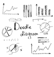 hand doodle charts vector image
