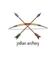 indian archery vector image