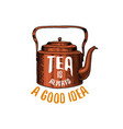 Kettle and teapot or kitchen utensils cooking vector image