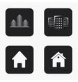 modern real estate icons set vector image