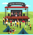 outdoor music festival composition vector image