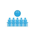 people in meeting time symbol vector image