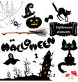 Set of Halloween elements vector image