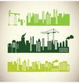 Simple city design vector image
