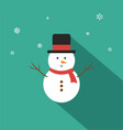 Snowman Flat Design vector image