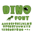 Dino font dinosaur ABC Texture animal of Jurassic vector image