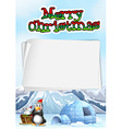 Paper template with chistmas theme vector image vector image