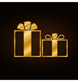 Christmas gold gift vector image vector image