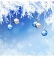 Christmas Fir Tree Branches Background vector image