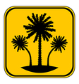 Palm button vector image