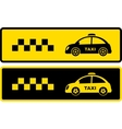 black and yellow retro taxi icons vector image vector image