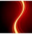 Orange smooth waveform background vector image