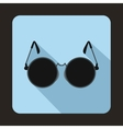 Glasses for blind icon flat style vector image