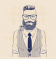 business hipster vector image