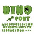 Dino font dinosaur ABC Texture animal of Jurassic vector image