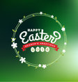 Happy Easter 2016 Lettering Greeting Card vector image