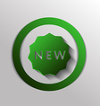 label new symbol of the new icon novelty vector image