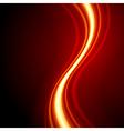 Orange smooth waveform background vector image