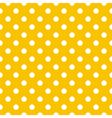 Seamless pattern white polka dot yellow background vector image