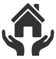 House Care Hands Flat Icon vector image