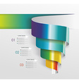 Modern design from spiral banner vector image