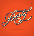 PARTY hand lettering vector image vector image
