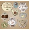 Gentleman Labels Set vector image