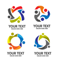 People community logo vector image