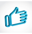 thump up and like icon vector image