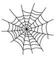 Black cobweb element isolated on white background vector image