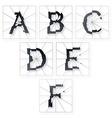 Broken Letters Alphabet vector image