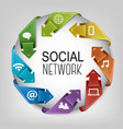 Business social network concept vector image