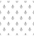 christmas new year seamless pattern with snowman vector image