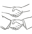 Drawing Handshake outline hand clip art vector image