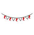 mexican garland with banner and chili pepper vector image