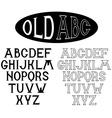 old alphabet for labels vector image