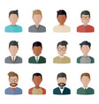 people icons set people icons set vector image