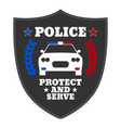 police sign elements of the police equipment vector image