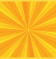 rays pattern with yellow light burst stripes sun vector image