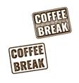 Realistic Coffee Break grunge rubber stamp vector image