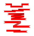 ribbon red award vector image