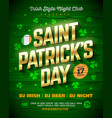 saint patricks day party poster design 17 march vector image
