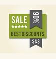 sale best discounts sticker vector image