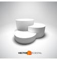 Infographic 3D pedestal vector image vector image